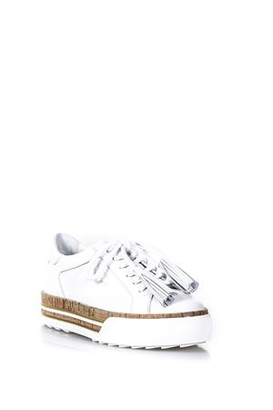 WHITE CORK AND LEATHER DOUBLE LAYER SHOES SS 2018 HOGAN | 55 | GYW3770AG82KLAB001