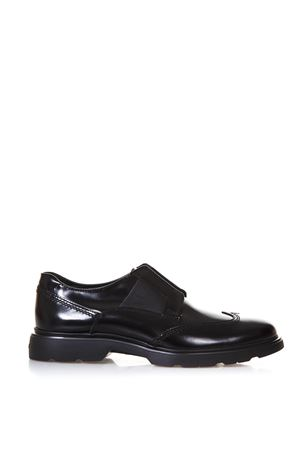 ROUTE H304 BLACK LEATHER SLIP-ON SHOES SS 2018 HOGAN | 208 | HXM3040K0607J7B999