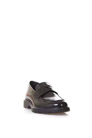 BLACK LEATHER ROUTE LOAFERS SS 2018 HOGAN | 130 | HXM3040X2306Q6B999