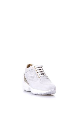 INTERACTIVE BEIGE SUEDE & LEATHER SNEAKERS SS 2018 HOGAN | 55 | HXW00N00E30IDZ0PCE