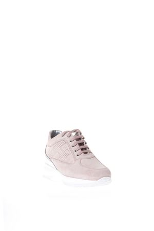 INTERACTIVE PINK SUEDE & LEATHER SNEAKERS SS 2018 HOGAN | 55 | HXW00N00E30IDZ0PCG