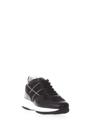 BLACK LEATHER INTERACTIVE SNEAKERS SS18 HOGAN | 55 | HXW00N0K010I79B999