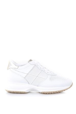 ATHLETIC WHITE LEATHER AND CANVAS SHOES SS 2018 HOGAN | 55 | HXW00N0K620I6W1556