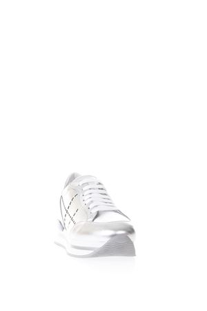 SILVER H222 LEATHER SNEAKERS SS18 HOGAN | 55 | HXW2220K080I810906