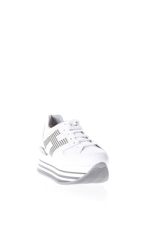 MAXI H222 WHITE LEATHER SNEAKERS WITH STUDS SS 2018 HOGAN | 55 | HXW2830AA70KLAB001