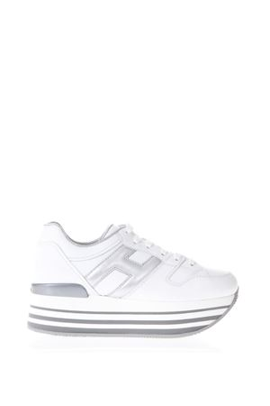 WHITE MAXI H222 LEATHER SNEAKERS SS18 HOGAN | 55 | HXW2830T548IJ70351
