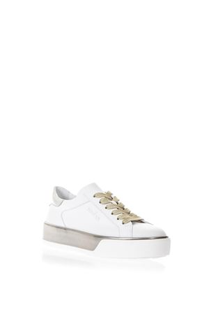 WHITE H320 SNEAKERS WITH METALLIC INSERTS SS 2018 HOGAN | 55 | HXW3200AG80IW50QBU