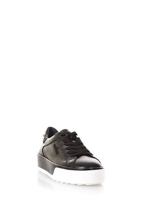 BLACK REBEL 320 SNEAKERS IN LEATHER SS 2018 HOGAN | 55 | HXW3200AH10IVYB999