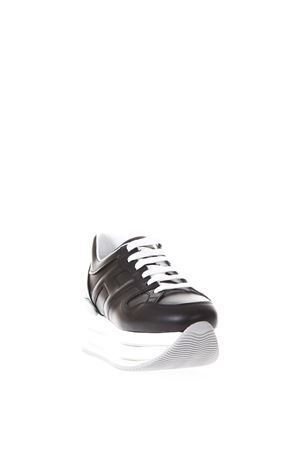 BLACK MAXI H222 LEATHER SNEAKERS SS18 HOGAN | 55 | HXW3460T548KLAB999