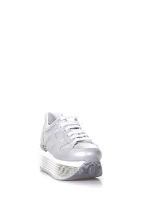 SILVER MAXI H222 LEATHER SNEAKERS SS 2018 HOGAN | 55 | HXW3520T548I6EB200