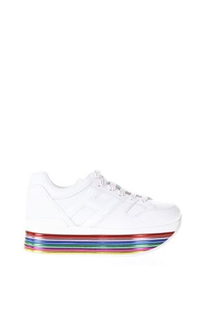 MAXI H222 WHITE & MULTICOLOR LEATHER SNEAKERS  SS 2018 HOGAN | 55 | HXW3520T548I6SB001
