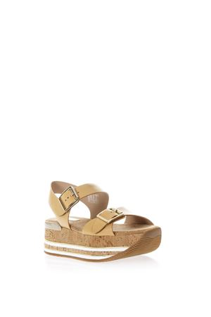 MAXI H222 CORK & LEATHER SANDALS SS 2018 HOGAN | 87 | HXW3540AA40D0WC611