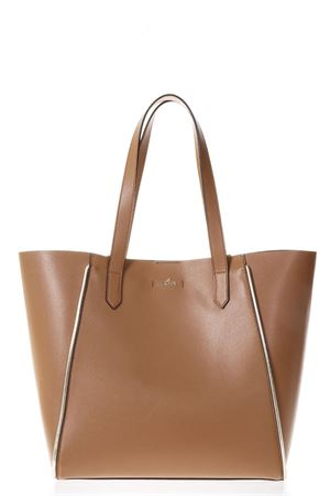 CARAMEL LEATHER SHOPPING BAG WITH HOGAN LOGO SS18 HOGAN | 2 | KBW00WA3400IAFC800