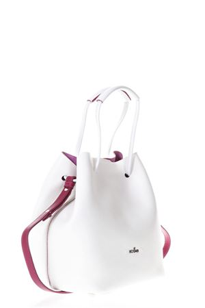 WHITE LEATHER BUCKET BAG SS 2018 HOGAN | 2 | KBW00WK0300IS187P