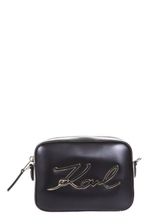 BLACK LEATHER SMALL BAG SS 2018 KARL LAGERFELD | 2 | 18KW3050CAMERA BAG999