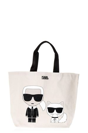 BORSA IN CANVAS GESSO CON PATCH KARLITO PE 2018 KARL LAGERFELD | 2 | 18KW3099CANVAS SHOPPER100
