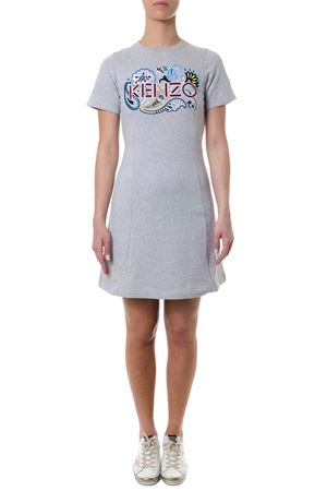 GREY COTTON PRINTED DRESS SS 2018 KENZO | 32 | F852RO813952UNI93