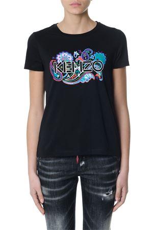 Black Paris flowers stamp t-shirt SS2018 KENZO | 15 | F852TS740990UNI99
