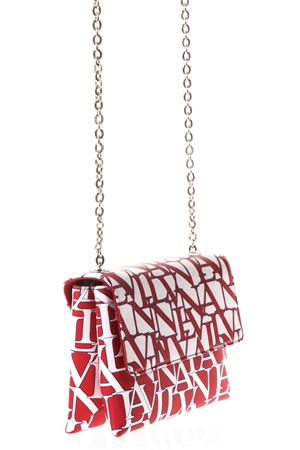 SUGAR LOGOED WHITE & RUBY LEATHER BAG SS 2018 LANVIN | 2 | LWBGRS01LANVE18B301