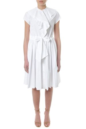 DRAPED WHITE COTTON DRESS SS 2018 LANVIN | 32 | RW-DR222T374200