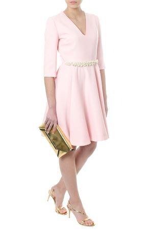 EMBELLISHED PINK WOOL FLARED DRESS SS 2018 LANVIN | 32 | RW-DR239X373452