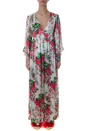 LONG CUT FLORAL DRESS IN POLYESTER SS 2018 LEITMOTIV | 32 | AATEUNIA03