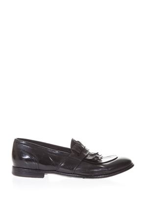 BLACK LEATHER LOAFERS WITH FRINGES DETAILS SS 2018 LEMARGO | 130 | AF06A1NERO