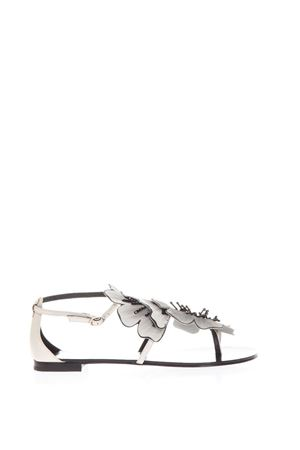 PLANA WHITE LEATHER FLOPS SS 2018 LOLA CRUZ | 87 | 034Z10BK-V18TPLANAOFF WHITE