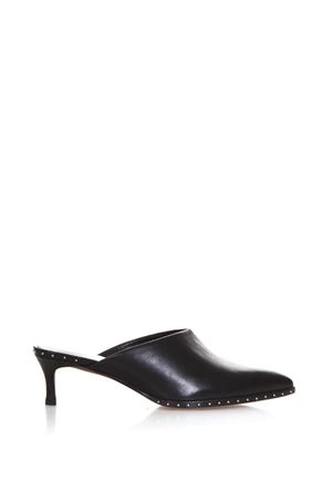 BLACK LEATHER STUDDED MULES SS 2018 LOLA CRUZ | 110000060 | 165Z15BK-V18PUNTA FINANERO