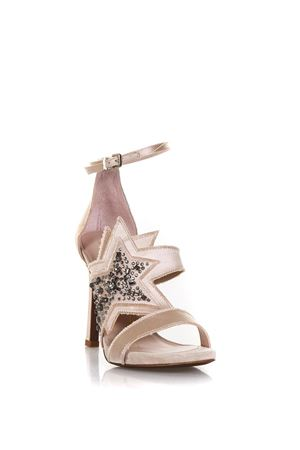 PINK SATIN SANDALS WITH GLITTERED STAR DETAIL SS 2018 LOLA CRUZ | 87 | 187Z85BK-V18CON DETTAGLI BRILLANTINATINUDE