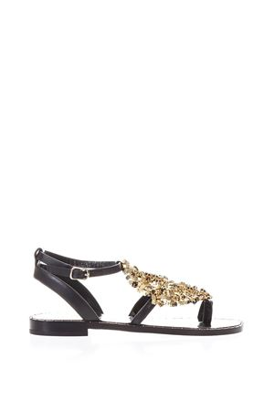 LUANDA II BLACK LEATHER SANDALS SS 2018 LOLA CRUZ | 87 | 235Z10BK-V18PLANANERO