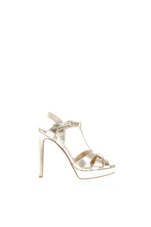 HIGH GOLD LEATHER SANDALS SS 2018 LOLA CRUZ | 87 | 411P19BKPALA CRUZADAORO