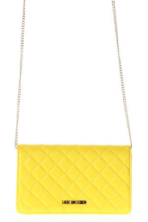 YELLOW COLOR ECO LEATHER QUILTED BAG SS 2018 LOVE MOSCHINO   2   JC4100PP15LP0400