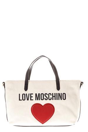 BORSA SHOPPING LOVE MOSCHINO IN TELA BEIGE PE 2018 LOVE MOSCHINO | 2 | JC4137PP15L3010A