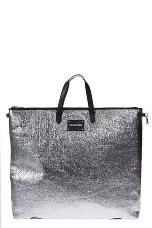 SILVER REVERSIBLE ECO LEATHER BAG SS 2018 LOVE MOSCHINO | 2 | JC4274PP05KI0902