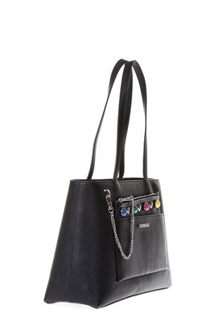 BLACK SHOPPING BAG MULTICOLORED STUDS DETAILS SS 2018 LOVE MOSCHINO | 2 | JC4300PP05KO0000
