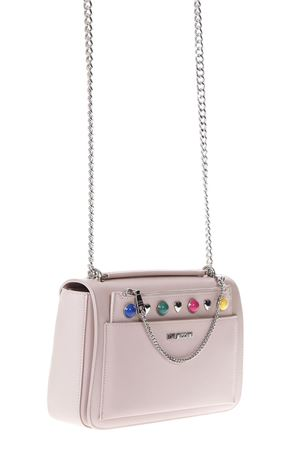 PINK SHOULDER BAG WITH MULTICOLORED STUDS INSERTS SS 2018 LOVE MOSCHINO | 2 | JC4303PP05KO0600