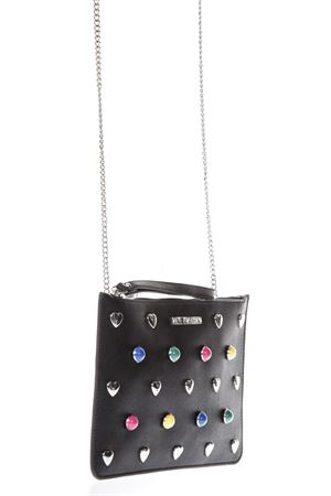 BLACK ECO LEATHER CLUTCH BAG WITH MULTICOLORED STUDS SS 2018 LOVE MOSCHINO | 2 | JC4304PP05KO0000