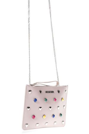 PINK ECO LEATHER CLUTCH BAG WITH MULTICOLORED SS 2018 LOVE MOSCHINO | 2 | JC4304PP05KO0600