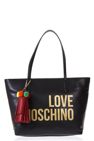 SHOPPER IN ECOPELLE NERO CON POMPOM PE 2018 LOVE MOSCHINO | 2 | JC4310PP05KQ0000