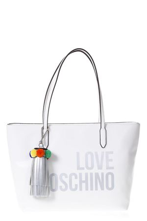 SHOPPER IN ECOPELLE BIANCA CON POMPOM PE 2018 LOVE MOSCHINO | 2 | JC4310PP05KQ0100