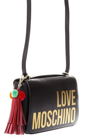 BLACK FAUX LEATHER SHOULDER BAG WITH LOGO SS 2018 LOVE MOSCHINO | 2 | JC4311PP05KQ0000
