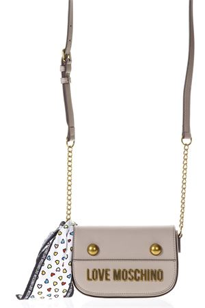 TAUPE FAUX LEATHER CROSS-BODY BAG ss 2018 LOVE MOSCHINO | 2 | JC4345PP05K60108