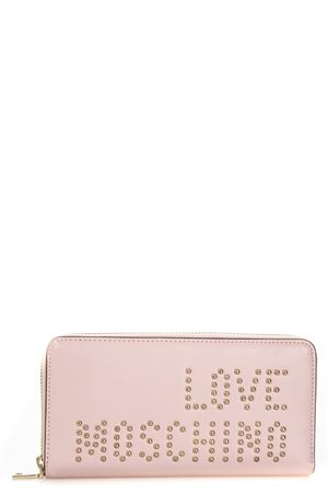 PINK ECO LEATHER WALLET WITH STUDS LOGO SS 2018 LOVE MOSCHINO | 34 | JC5502PP15LM0600