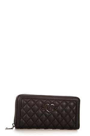 BLACK LOVE MOSCHINO QUILTED WALLET SS 2018 LOVE MOSCHINO | 34 | JC5507PP15LA0000