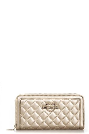 GOLD COLOR QUILTED FAUX LEATHER WALLET SS 2018 LOVE MOSCHINO | 34 | JC5507PP15LA0901