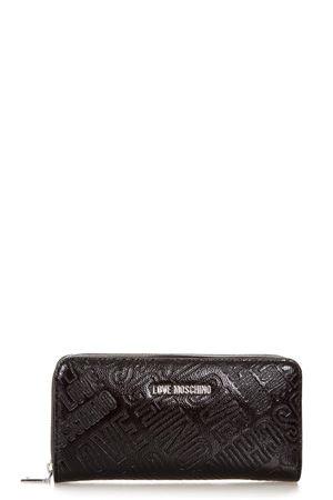 BLACK ALL OVER LOGO PRINT WALLET SS 2018 LOVE MOSCHINO | 34 | JC5551PP05KC0000