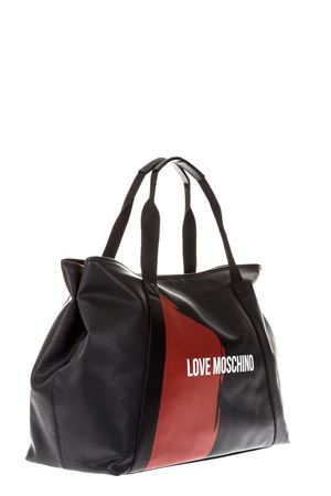 BLACK SHOPPER BAG WITH LOGO SS 2018 LOVE MOSCHINO | 2 | JD4704PP15F10000