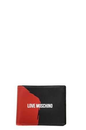 BLACK & RED SOFFIANO LEATHER WALLET SS 2018 LOVE MOSCHINO | 34 | JD5700PP15F10000