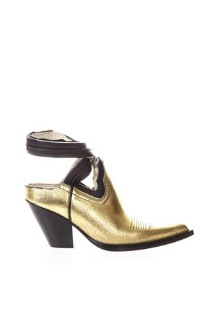 VEGAS GOLD LEATHER CUTOUT ANKLE BOOTS SS 2018 MAISON MARGIELA | 52 | S39WP0052SY1192962